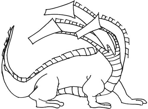 Dreiköpfiger Drachen - Zeichenanleitung Schritt 3