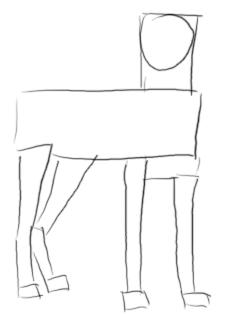 Stehend zeichnen - Schritt 1