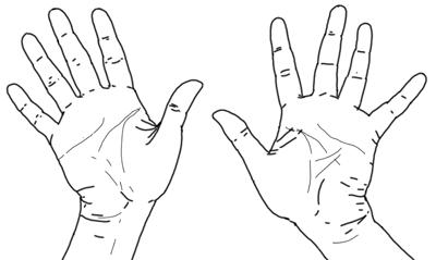 Handflächen zeichnen - Schritt 3