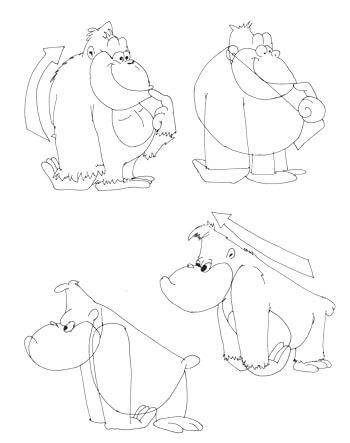 Comicgorilla zeichnen