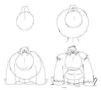 Comicgorilla zeichnen 2