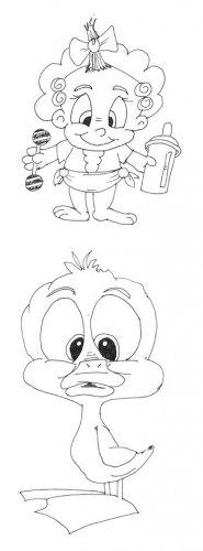 Comictiere und Kindchenschema: Comicbaby vs. Tierbaby