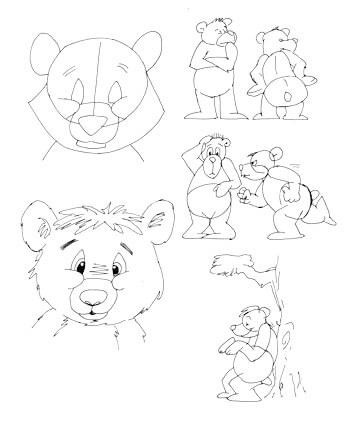 Comicbärchen zeichnen