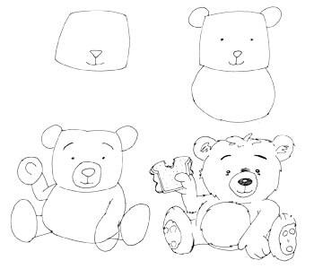 Comicbärchen zeichnen 2