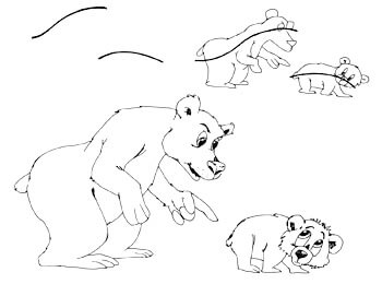 Actionlines - Comicbären