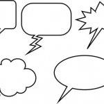 Cartoons/Comics Sprechblasen Texte