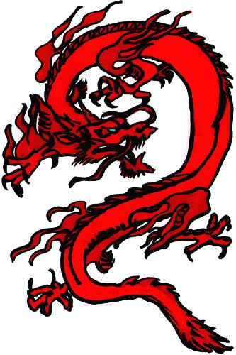 Chinesischer Drache - Zeichentutorial Schritt 3