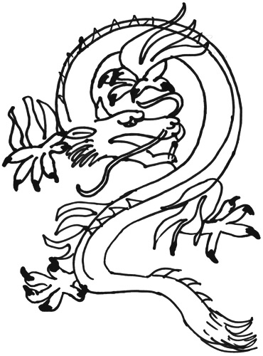Chinesischer Drache - Zeichentutorial Schritt 2