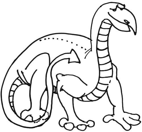 Drachen ohne Flügel - Zeichenanleitung Schritt 2