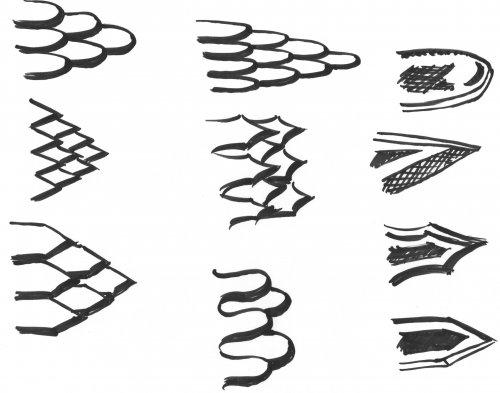 Drachenschuppen zeichnen