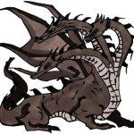 Dreiköpfiger Drache - Zeichenanleitung Kolorierung