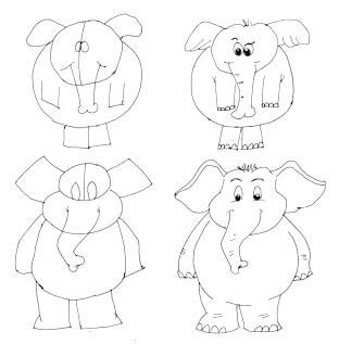 Comicelefant zeichnen