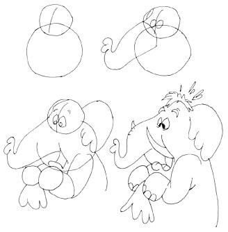Comicelefant zeichnen 2