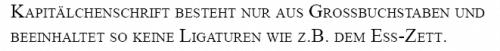 Falsche Kapitälchenschrift Beispiel