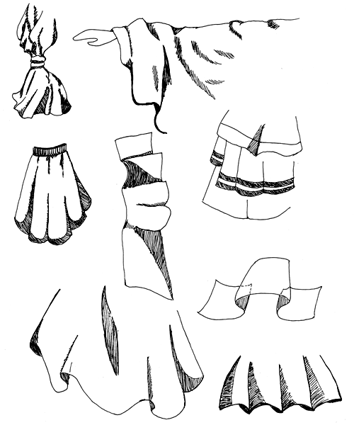 Faltenwurf in Kleidung zeichnen