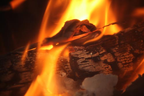 Feuer im Kamin Fotovorlage 2