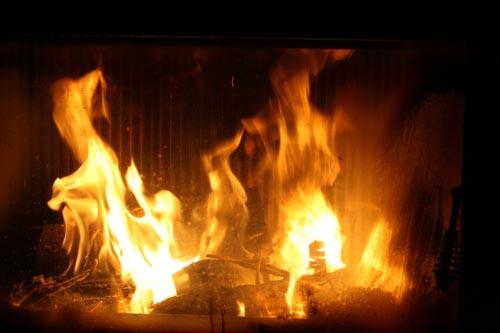 Feuer im Kamin Fotovorlage 3