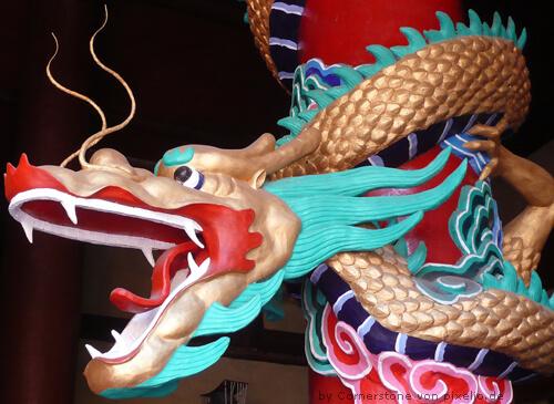 Chinesische Drachenstatue