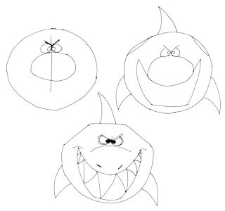 Comichai von vorne zeichnen