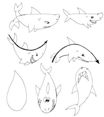 Actionlines - Haifisch zeichnen