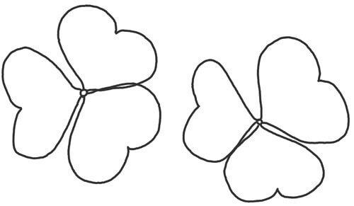Kleeblatt Schritt für Schritt Anleitung Skizze