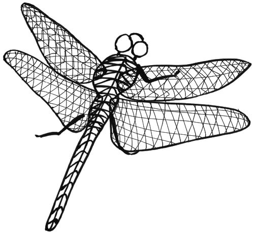 Libelle von oben Ansicht von hinten Skizze