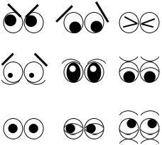 Mimik durch einfache Comicaugen darstellen