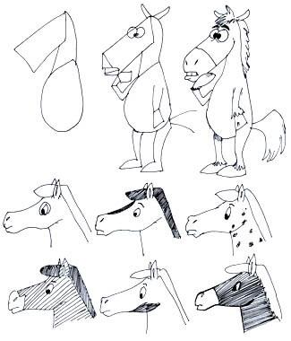Comicpferd Beispiele
