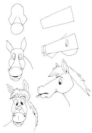 Comicpferd zeichnen 2