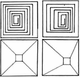 Ruhe und Spannung in einem Quadrat