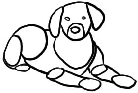 Süßer Welpe zeichnen - Schritt 1