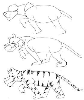 Comictiger zeichnen