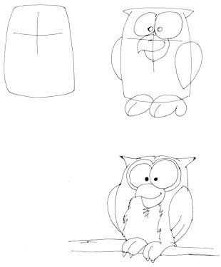 Comiceule zeichnen