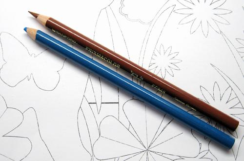 Mit Buntstiften ausmalen - Material