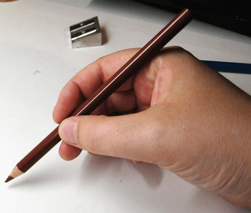 Buntstift richtige Stifthaltung 1