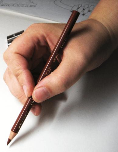 Buntstift richtige Stifthaltung 2