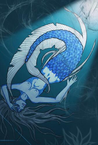 Ertrunkene Meerjungfrau