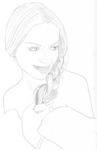Portrait Frau zeichnen lernen Bleistiftzeichnung Schritt 1