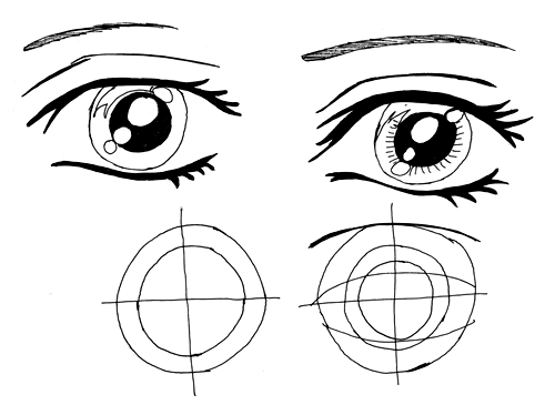Mangas Augen zeichnen