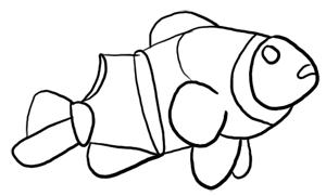 Fische und Haie: Clownfisch Grundformen