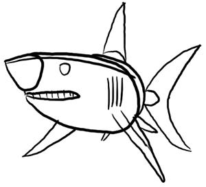 Fische und Haie: Haifisch Grundformen
