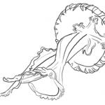 Meerestiere: Lange Quelle Zeichnung