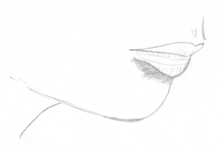Mund zeichnen lernen: Bleistiftzeichnung