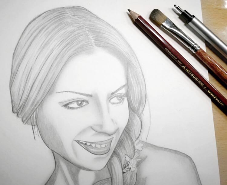 Portrait zeichnen mit Bleistift