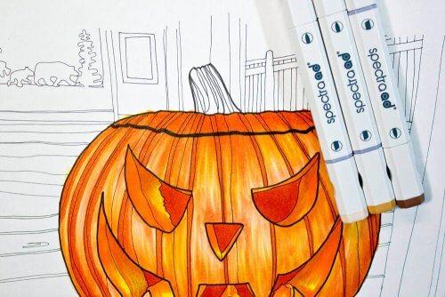 Spectra Ad Marker: Halloween Kürbis malen