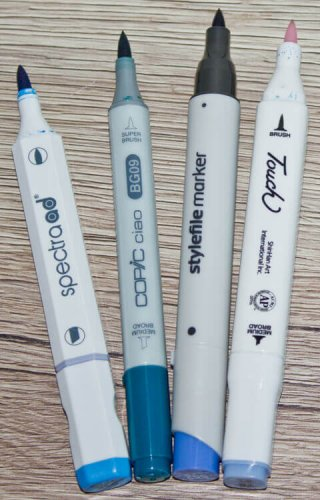 Brushmarker Marker mit Pinselspitze: Spectra ad, Copic Ciao, Stylefile, Touch