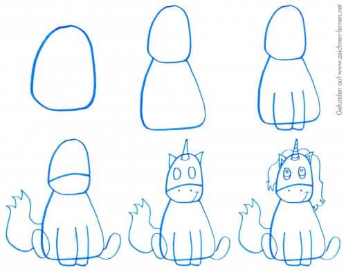 Comic Einhorn zeichnen - Schritt für Schritt Tutorial