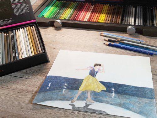 Mit Buntstift malen - Farbstifte kombinieren