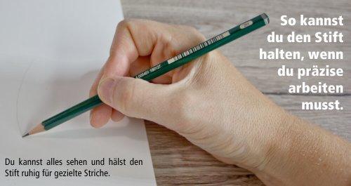 Akzeptable Stifthaltung für mehr Präzision