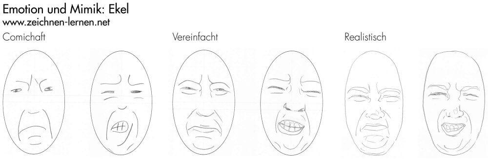 Emotionen und Mimik zeichnen: Ekel